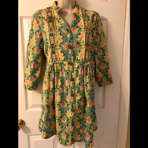 Matilda Jane Green Acres Tunic Top Size M ~ EUC